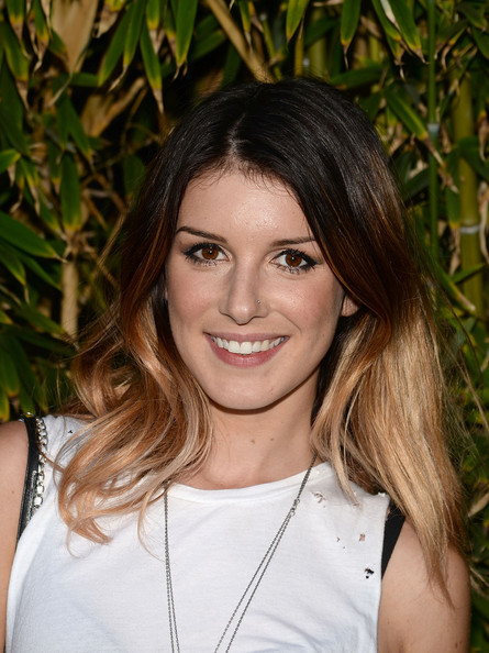 Shenae Grimes looked cool with her ombre locks at the GANT Rugger collection presentation.