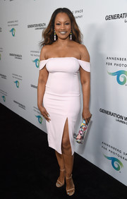 Garcelle Beauvais looked divine in a pale-pink off-the-shoulder dress by Jay Godfrey at the Generation Wealth event.