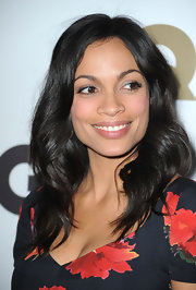 Rosario Dawson showed off her radiant shoulder length locks while attending the Men of the Year party.