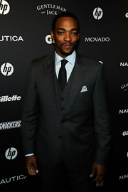 It doesn't get much classier than a three piece suit and Anthony Mackie wore it so well at the GQ Gentlemen's Ball. He mixed patterns like a champ!