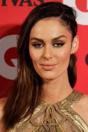 Nicole Trunfio topped off her look with an edgy-glam partially braided hairstyle when she attended the GQ Men of the Year Awards.