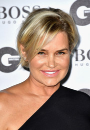 Yolanda Hadid sported a messy-chic 'do at the 2016 GQ Men of the Year Awards.