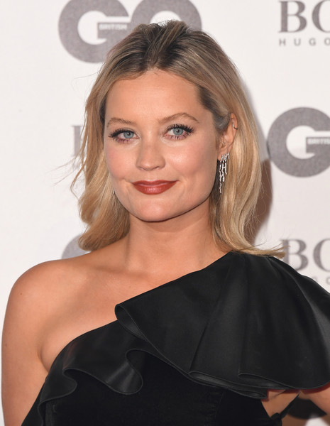More Pics of Laura Whitmore Red Nail Polish (1 of 9) - Nails Lookbook - StyleBistro [hair,hairstyle,face,shoulder,blond,chin,eyebrow,beauty,lip,skin,red carpet arrivals,laura whitmore,gq men of the year awards,awards,england,london,tate modern,gq men of the year]