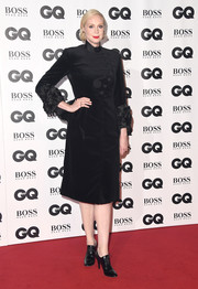 Gwendoline Christie sealed off her look with a pair of high-heel oxfords.