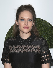 Carly Chaikin attended the GQ Men of the Year party wearing her hair in a classic half-up style.