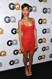 Leave it to Rihanna to make the simplest of little dresses look edgy!
