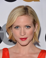 We are loving the chic simplicity of Brittany's side-parted bob!
