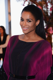 Ciara looked gorgeous with her sleek ponytail at the Gabriela Cadena fashion show.