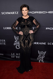 Kris Jenner opted for a beaded black gown by Zuhair Murad when she attended the Angel Ball 2016.