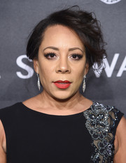 Selenis Leyva attended the 2018 Angel Ball wearing her hair in a short, messy style.
