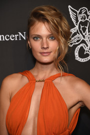 Constance Jablonski made messy hair look so chic during the Angel Ball.