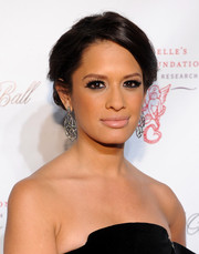 Rocsi Diaz pinned her hair up in a romantic loose updo for the Angel Ball.
