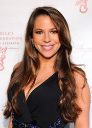Brooke Milstein left her long hair loose with gentle waves when she attended the Angel Ball.