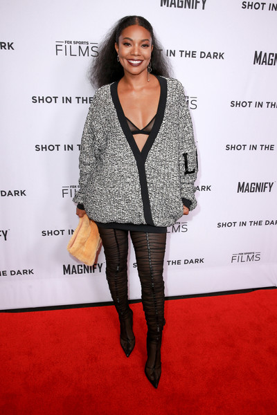 Gabrielle Union Over the Knee Boots [fox sports films,shot in the dark premiere documentary screening and panel discussion,clothing,carpet,fashion,outerwear,footwear,joint,leg,premiere,fashion model,red carpet,gabrielle union,pacific design center,west hollywood,california,premiere documentary screening,panel discussion]