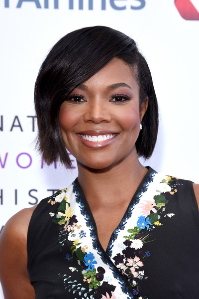 Gabrielle Union Bob [hair,hairstyle,beauty,black hair,bangs,long hair,hair coloring,fashion model,layered hair,smile,beverly hills,california,the beverly hilton hotel,national womens history museums 7th annual women making history awards,gabrielle union]