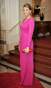 Franziska was a stunning sight at the 2010 Gala Spa Awards in this candy pink confection.