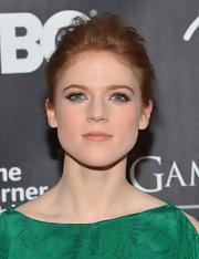 Rose Leslie pinned back her hair into this slightly undone 'do for her simple but elegant look at the 'Game of Thrones' exhibit opening in NYC.