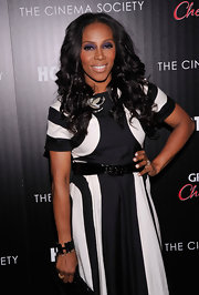 June Ambrose accessorized her look with a gold cuff bracelet at the 'Hotel Noir' screening.
