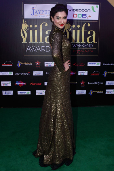 Gauhar Khan Evening Dress