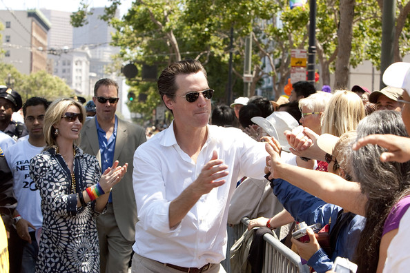 Gavin Newsom Rimless Sunglasses