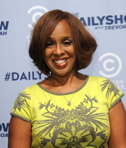 Gayle King Bob [the daily show with trevor noah premiere party event,hair,hairstyle,layered hair,smile,long hair,premiere,brown hair,black hair,gayle king,new york city,comedy central]