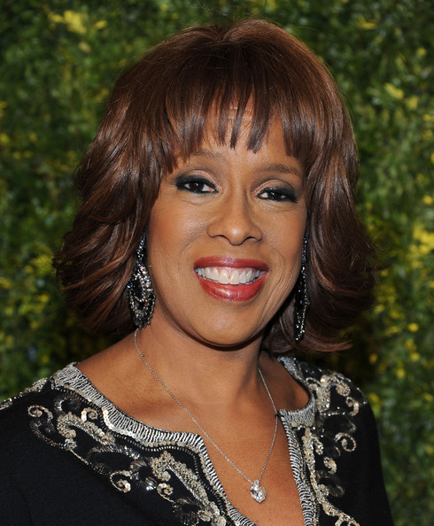 Gayle King Bob [hair,face,hairstyle,bangs,eyebrow,chin,lip,beauty,brown hair,forehead,gayle king,new york city,christies,green auction: a bid to save the earth]
