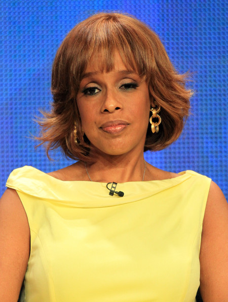 Gayle King Bob [cbs this morning,hair,face,hairstyle,chin,layered hair,blond,bob cut,shoulder,bangs,brown hair,gayle king,discussion panel,beverly hilton hotel,california,los angeles,cbs news,summer tca,portion,tour]