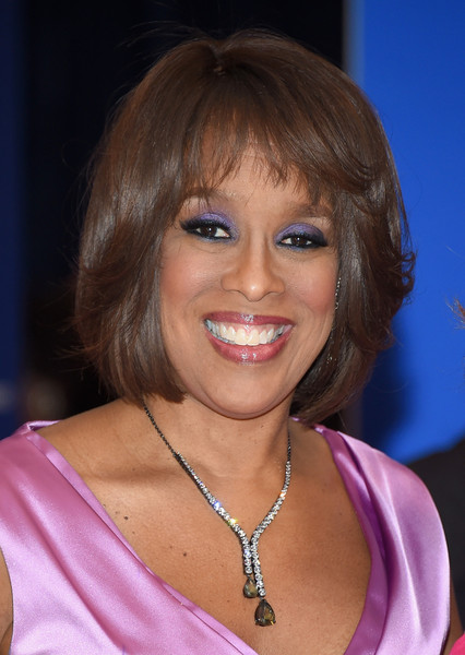 Gayle King Bob [white house correspondents association dinner,white house correspondents association dinner - inside arrivals,hair,face,hairstyle,eyebrow,blond,chin,bangs,smile,lip,brown hair,washington dc,washington hilton,gayle king]