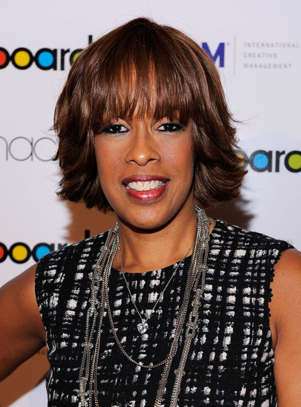 Gayle King Layered Razor Cut [hair,hairstyle,face,bangs,lip,black hair,layered hair,bob cut,hair coloring,brown hair,4th annual women in music,gayle king,media personality,new york city,the pierre hotel,billboard,event]