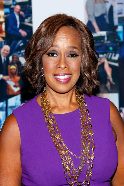 Gayle King Short Wavy Cut [hair,hairstyle,eyebrow,beauty,purple,long hair,shoulder,premiere,electric blue,blond,office - arrivals,gayle king,new york city,cantor fitzgerald,bgc,gfi,charity day,annual charity day]