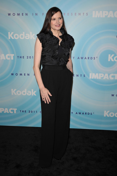 Geena Davis High-Waisted Pants