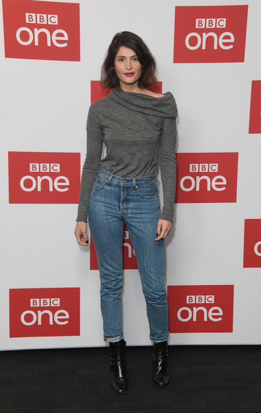 Gemma Arterton Ankle Boots [watership down,photocall,clothing,jeans,shoulder,denim,fashion,footwear,joint,outerwear,waist,neck,gemma arterton,england,london,bfi southbank,bbc one,photocall]
