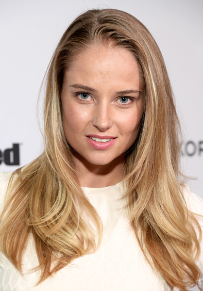 Genevieve Morton Layered Cut [sports illustrated,hair,blond,hairstyle,face,eyebrow,long hair,brown hair,chin,hair coloring,layered hair,genevieve morton,los angeles,california,fashionable 50 celebration]