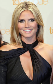 Heidi Klum finished off her makeup with a subtle lip color.