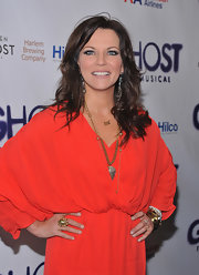 Martina Mcbride wore her shiny tresses casually styled for the opening night of 'Ghost, The Musical.'