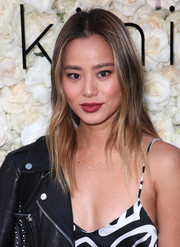 Jamie Chung sported a subtly wavy 'do at the Gigi C Bikinis pop-up launch event.