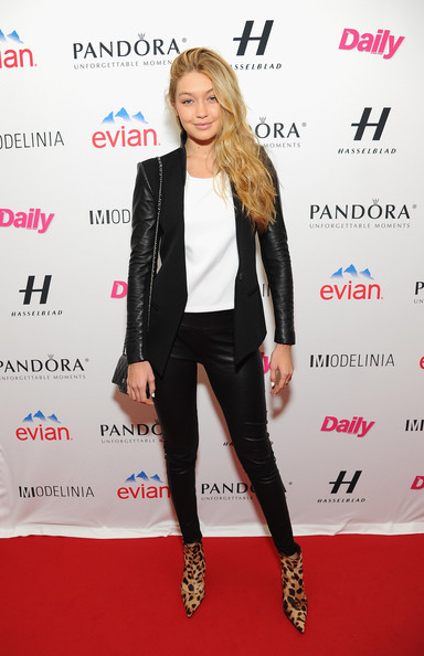 Gigi Hadid Pantsuit [clothing,suit,carpet,fashion,footwear,outerwear,red carpet,premiere,blazer,event,models,party - arrivals,gigi hadid,modelinia,daily front row,harlow,new york city,the daily front row,models issue party,mercedes - benz fashion week]