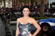 Gina Carano Strapless Dress