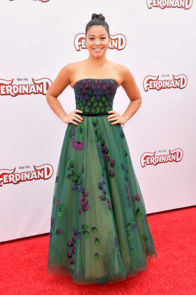Gina Rodriguez Strapless Dress