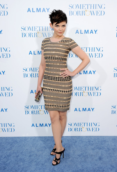 Ginnifer Goodwin Beaded Dress [something borrowed,clothing,dress,fashion model,cocktail dress,shoulder,fashion,hairstyle,footwear,joint,premiere,arrivals,ginnifer goodwin,grauman,something,california,hollywood,warner bros.,premiere,premiere]