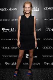 Toni Garrn opted for a simple sleeveless LBD when she attended the screening of 'Truth.'