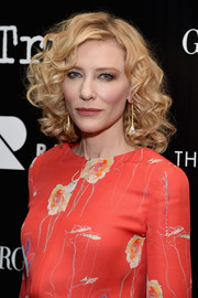 Cate Blanchett glammed up her look with high-volume curls for the screening of 'Truth.'