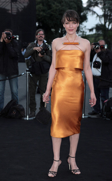More Pics of Milla Jovovich Halter Dress (1 of 9) - Milla Jovovich Lookbook - StyleBistro