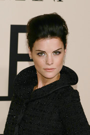 Jaimie Alexander sported a stylish pompadour at the Giorgio Armani SuperPier show.
