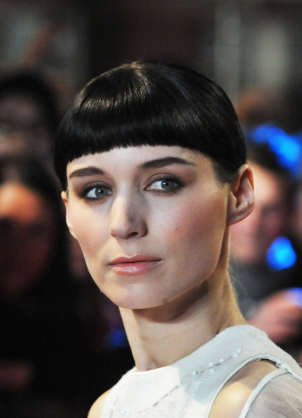 Rooney Mara looked quirky with her blunt bangs at the world premiere of 'The Girl with the Dragon Tattoo.'