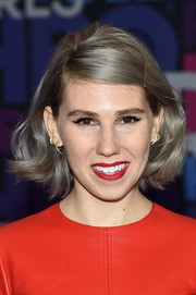 Zosia Mamet looked refreshingly youthful wearing this feathered bob at the 'Girls' season 4 premiere.