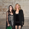 Frances Bean Cobain and Courtney Love at Givenchy