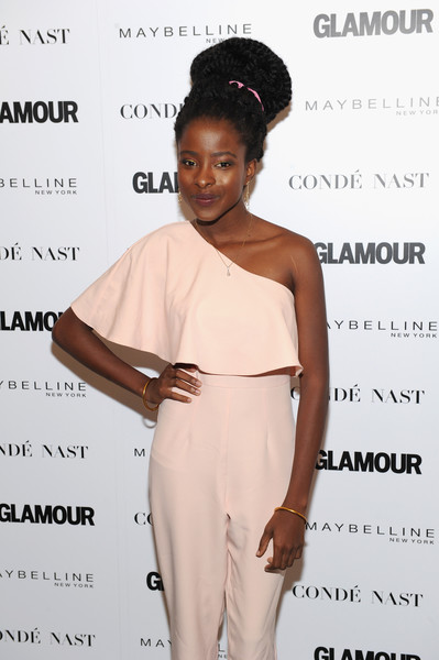 Amanda Gorman accessorized with a pair of gold bracelets when she attended Glamour's 'The Girl Project.'
