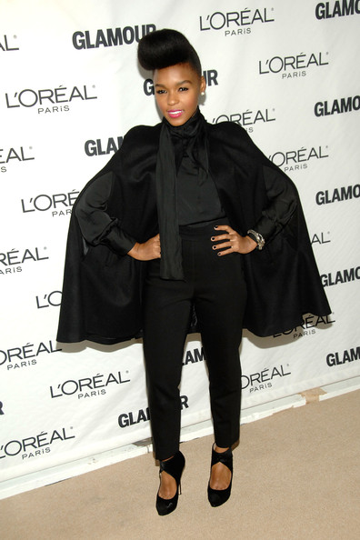 More Pics of Janelle Monae Pompadour (1 of 3) - Pompadour Lookbook - StyleBistro
