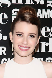 Emma Roberts went for classic elegance with this high bun at Glamour's presentation of 'These Girls.'